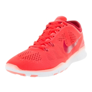 cd1f63098174 Nike Women s Free 5.0 Tr Fit 5 Brgh Prm Rd Atmc Pink Wh Training Shoe - Free  Shipping Today - Overstock.com - 19154747