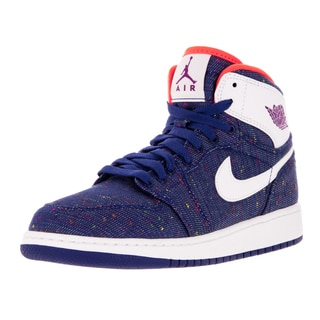 Nike Jordan Kid's Air Jordan 1 Retro High Gg Royal Blue/White/Purple Dsk/ Basketball Shoe