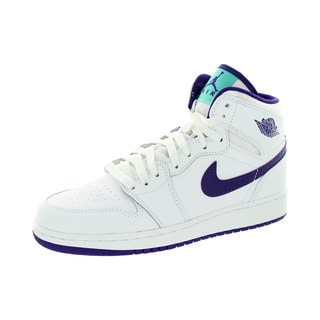 Nike Jordan Kid's Air Jordan 1 Retro High Gg Whiteurple/White Basketball Shoe