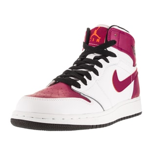 Nike Jordan Kid's Air Jordan 1 Retro Hight Gg White/Black/Sprt Fuchsia/Ht Lv Basketball Shoe