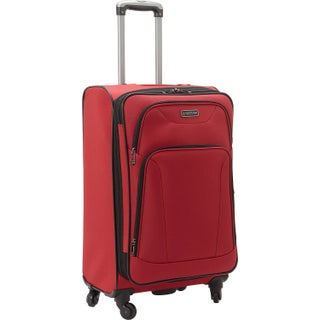 Heritage 'Wicker Park' 24-inch Expandable 4-wheel Spinner Checked Suitcase
