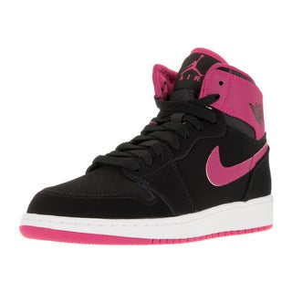 Nike Jordan Kid's Air Jordan 1 Retro High Gg Black/Vivid Pink/White/Vvd Pink Basketball Shoe