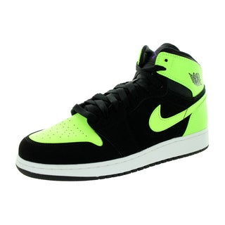 Nike Jordan Kid's Air Jordan 1 Retro High Gg Black/Ghst Green/White/Ultrvlt Basketball Shoe