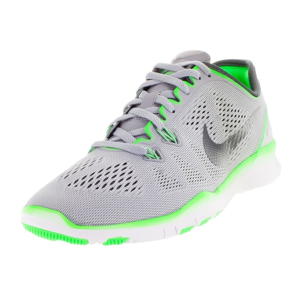 9dc3a18e36704 Shop Nike Women s Free 5.0 Tr Fit 5 Wolf Grey Dark Grey  Green ...