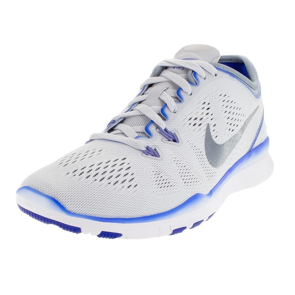 f8f43e4a6e42e Shop Nike Women s Free 5.0 Tr Fit 5   Grey Wh Training Shoe - Free ...