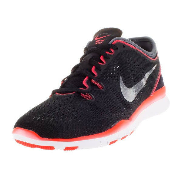 e798d757bdf6 Shop Nike Women s Free 5.0 Tr Fit 5 Black Dark Grey Brgh White ...