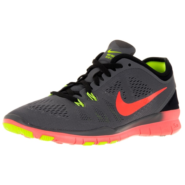 quality design 40e5c 12aa5 Shop Nike Womens Free 5.0 Tr Fit 5 Dark GreyHyper OrangeBlackVlt  Training Shoe - Free Shipping Today - Overstock - 12322007