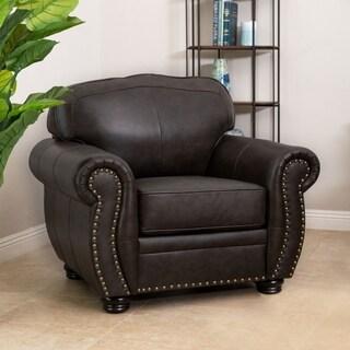 Abbyson Richfield Top Grain Leather Armchair