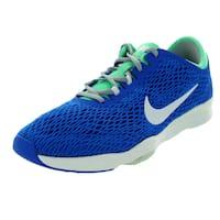 Nike Women's Zoom Fit Soar/White/Green Glow/Grey Running Shoe