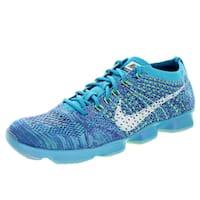 Nike Women's Flyknit Zoom Agility Black/White/Elctrc G/Pink Pw Training Shoe