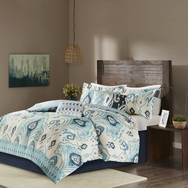 Madison Park Sabina Blue Comforter Set