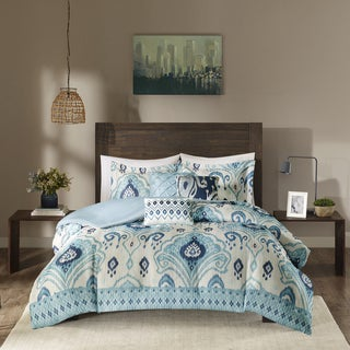 Madison Park Sabina Blue Duvet Cover Set