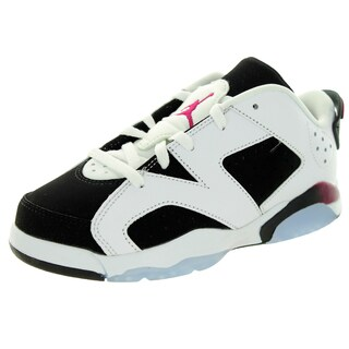Nike Jordan Kid's Jordan 6 Retro Low Gp White/Sport Fuchsia/Black Basketball Shoe