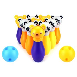 Velocity Toys Kids' 12-piece Funny Animal Toy Bowling Playset