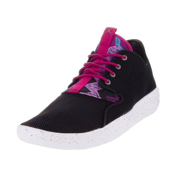 4bdb389c6d0 Shop Nike Jordan Kid s Jordan Eclipse Gg Black Metallic Pewter Sprt ...