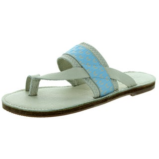 Toms Women's Isabela Flip Flop Dove Blue Sandal