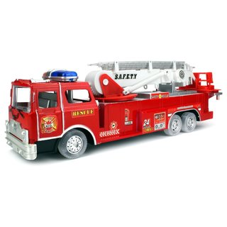 Velocity Toys Bump and Go Battery Operated Kids' Toy Safety Rescue Fire Truck With Flashing Lights and Sounds
