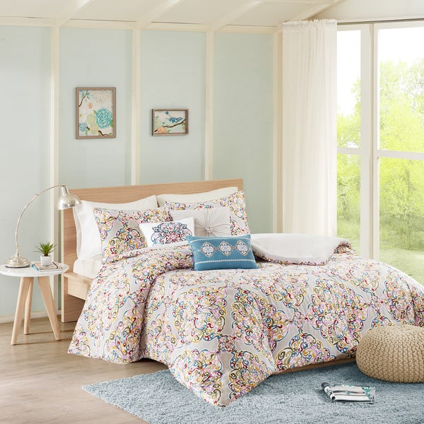 Madison Park Tesimo Multi Cotton Duvet Cover Set