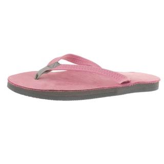 Rainbow Sandals Women's Single Layer Premier Sandal Pink/Grey Sandal