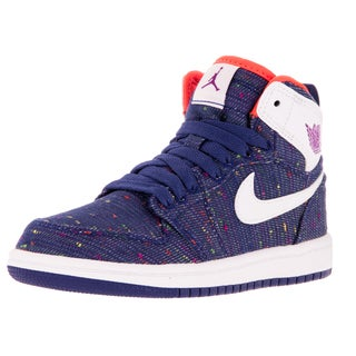 Nike Jordan Kid's Jordan 1 Retro High Gp Dp Rylbl/White/Prprl Dsk/ Basketball Shoe