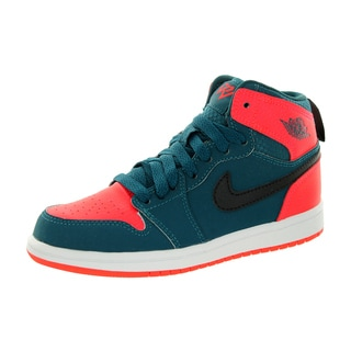 Nike Jordan Kid's Jordan 1 Retro High Bp Teal/Black/Infrared 23/White Basketball Shoe