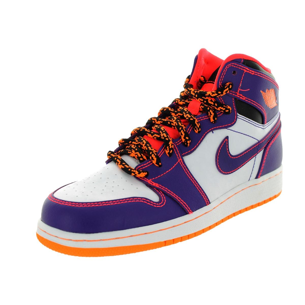 Nike Jordan Kid's Air Jordan 1 Retro High Bg Purple/Brgh/...