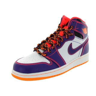 Nike Jordan Kid's Air Jordan 1 Retro High Bg Purple/Brgh/White/Brg Basketball Shoe
