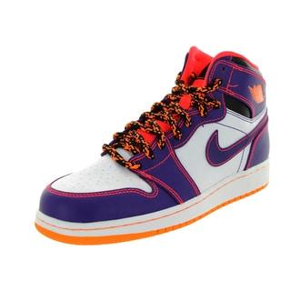 Nike Jordan Kid's Air Jordan 1 Retro High Bg Purple/Brgh/White/Brg Basketball Shoe