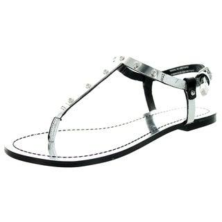 Diesel Women's D-Orothy Silver Sandal