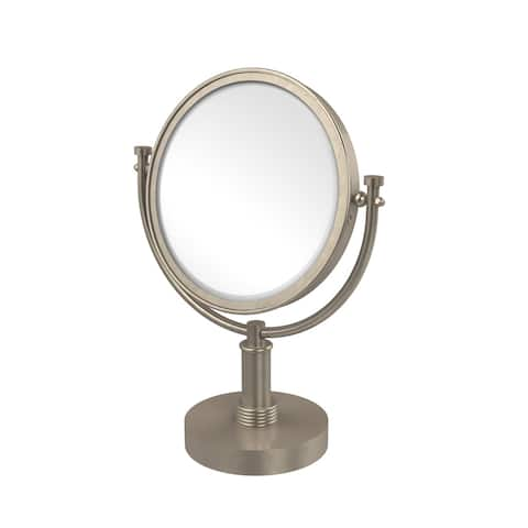 Allied Brass 8-inch Vanity Top Make-up Mirror 4x Magnification