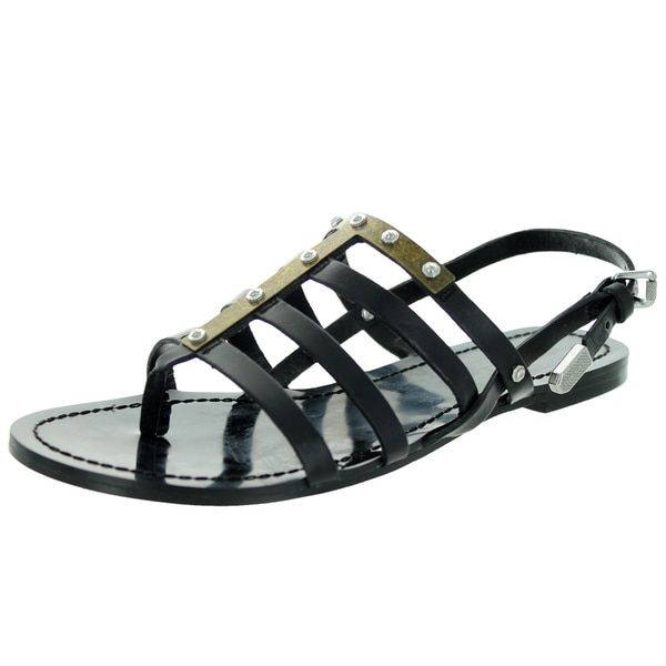 a7768777dfd38 Shop Diesel Women s D-Anna Black Sandal - Free Shipping Today ...