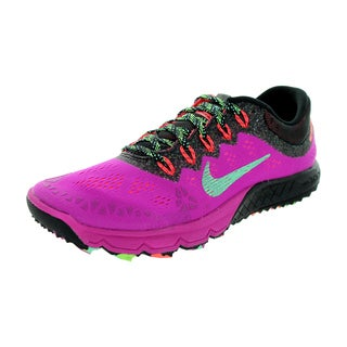 Nike Women's Air Zoom Terra Kiger 2 Fuchsia Flash/Green Glow/Black Running Shoe
