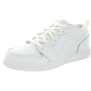 Nike Jordan Kid's Jordan 1 Low Bp White/Metallic Silver/White Basketball Shoe