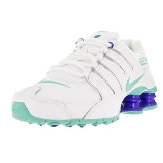 Nike Women's Shox Nz White/Hyper Turq/Racer Blue Running Shoe