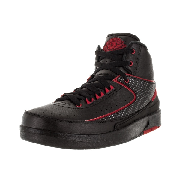 e60a4b73e814 Shop Nike Jordan Kid s Air Jordan 2 Retro Bg Black Varsity Red ...