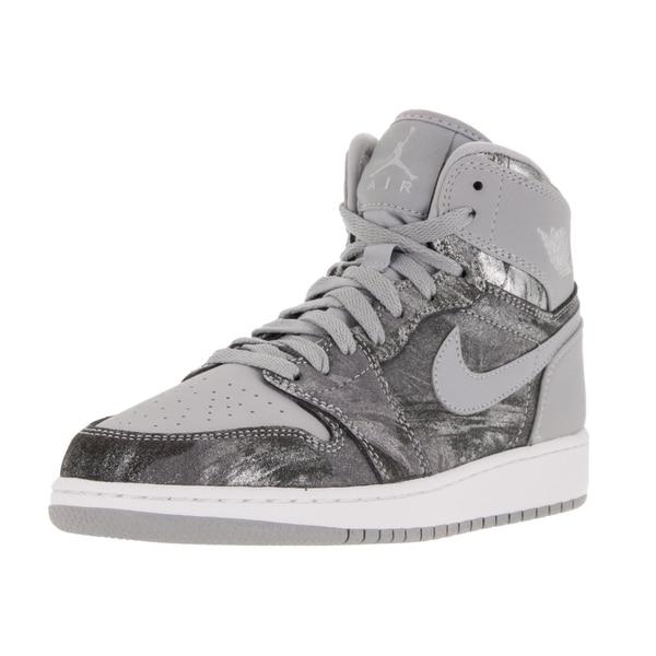 half off b4980 2c8da Nike Jordan Kid  x27 s Air Jordan 1 Retro Hi Prem Gg Wolf Grey