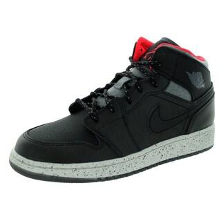 Nike Jordan Kid's Air Jordan 1 Mid Holiday Bg Black/Dark Grey/ Basketball Shoe