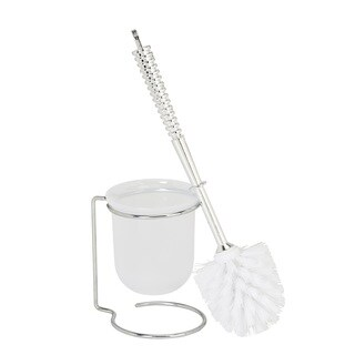 Kennedy Home Collection Clear Chrome Look Toilet Brush