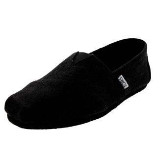 Toms Classics Black Burlap Casual Shoes Men's Us (Black)