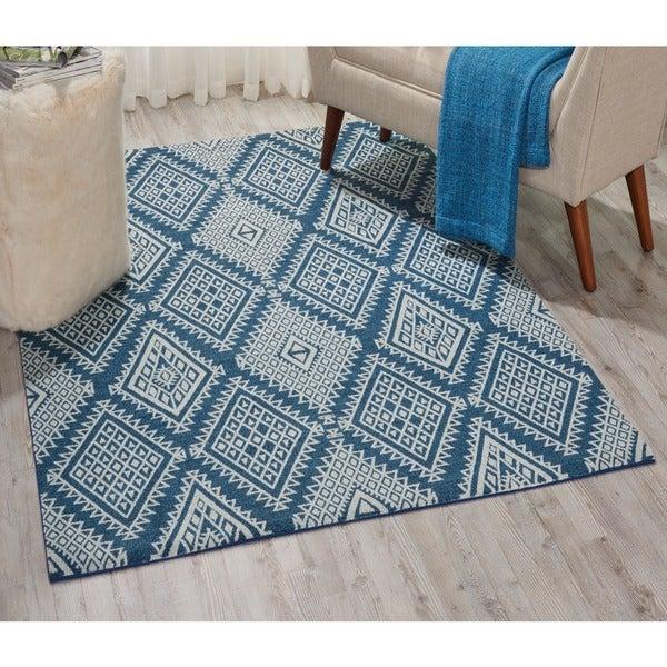 Nourison Enhance Blue Area Rug (2'6 x 4')