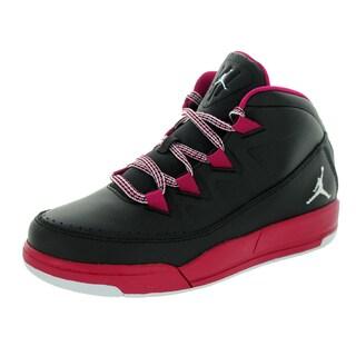 Nike Jordan Kid's Jordan Deluxe Gp Black/White/Sport Fuchsia Basketball Shoe