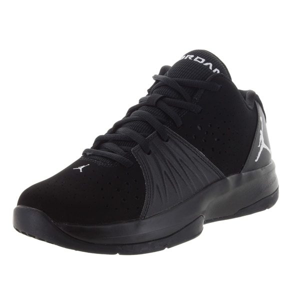 4559ddacb6e1 Shop Nike Jordan Kid s Jordan 5 Am Bg Black White Training Shoe ...