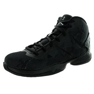 Nike Jordan Kid's Jordan Super.Fly 4 Bg Black/White/Drk Grey/ Basketball Shoe