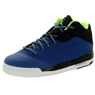 Nike Jordan Kid'S New School Bg Insgn Blue/Green/Black/White Basketball Shoe
