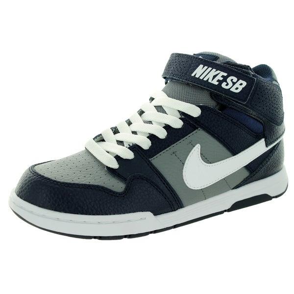 e600be8b218a Shop Nike Kid s Mogan Mid 2 Jr B Cool Grey White Obsidian Skate Shoe ...