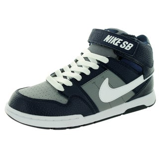 Nike Kid's Mogan Mid 2 Jr B Cool Grey/White/Obsidian Skate Shoe