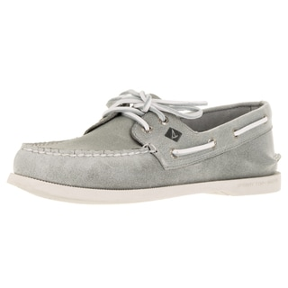 Sperry Top-Sider Men's A/O 2-Eye White Cap Grey Boat Shoe