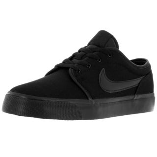 Nike Kid's Toki Low Canvas (Gs) Black/Black Casual Shoe