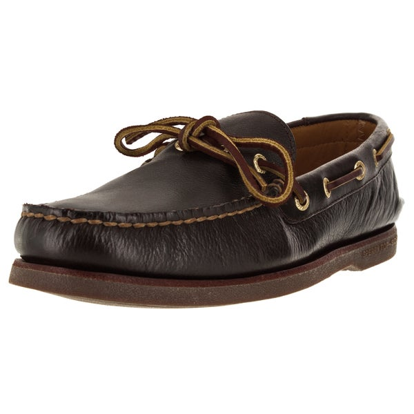 Shop Sperry Top-Sider Men s Gold Authentic 1-Eye Brown Boat Shoe ... e67f6306ce22