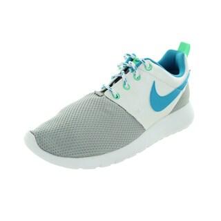 Nike Kid's Roshe One (Gs) Metallic Silver/White/Elctr Running Shoe